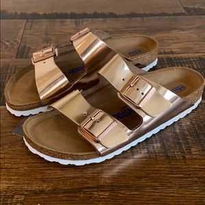 Madewell x Birkenstock leather Arizona sandals